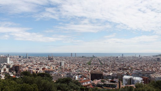 Barcelona Skyline by mwiththeat, via Flickr (CC BY-NC 2.0)